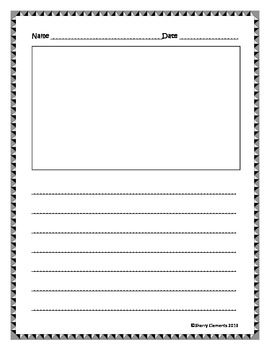 Blank Writing Sheets Kindergarten