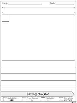 Writing Paper w/ Checklist