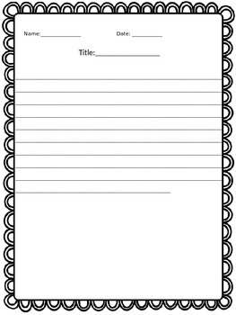 Writing Paper with BORDERS!