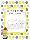 Writing Paper with Checklist