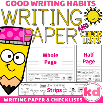 Writing Paper with Checklist & Checklist Strips