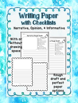 Writing Paper with Checklists