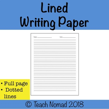 Writing Paper with Full page of Dotted Lines (Portrait)