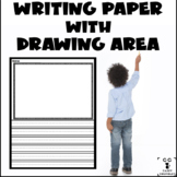 Writing Paper with Drawing Area - 30 Different Sheets!