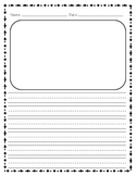Lined Writing Paper with Drawing Box