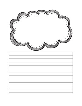 Writing Paper with Frame