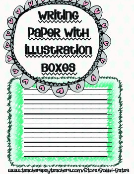 Writing Paper with Illustration Boxes