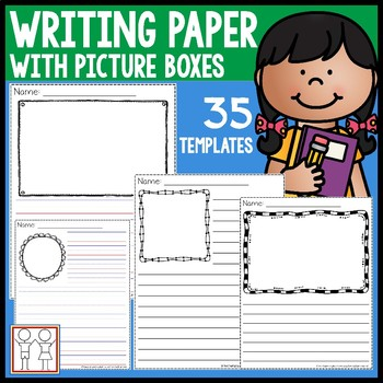 Writing Paper with Picture Boxes