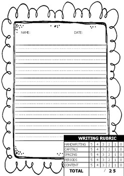 Writing Paper with Rubric