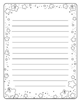Writing Paper with Star Border