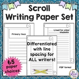 Scroll Border Writing Paper Set (65 pages) Lined & Unlined