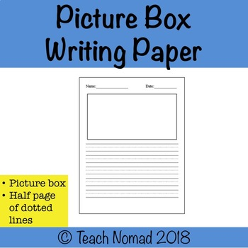 Writing Paper with dotted lines (Portrait)