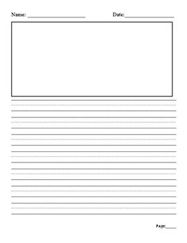 Writing Paper with dotted lines & page numbers
