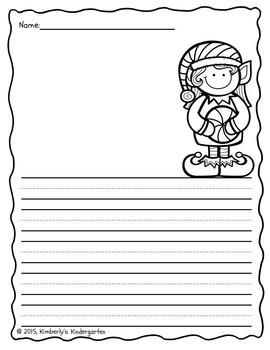 Writing Papers: Christmas Theme
