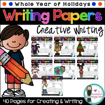 Writing Papers: Full Year of Holiday Pages!