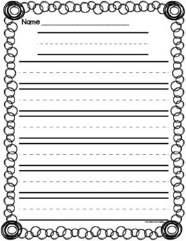 Writing Papers - Grades K-1  (Set 2)