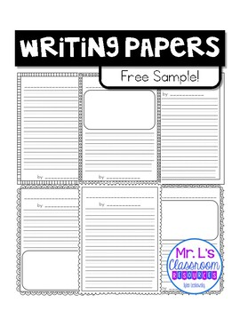 Writing Papers Pack *Free Sample*