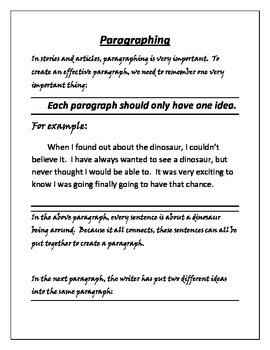 Writing Paragraphs