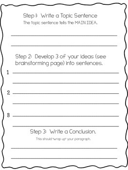 Writing Paragraphs: An easy format for BEGINNERS