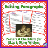 Checklists for Editing and Revising Paragraphs for ELLs and Other Writers