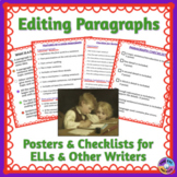 Checklists for Editing and Revising Paragraphs for ELLs an