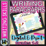 Digital and Print Writing Paragraphs Grades 1 and 2