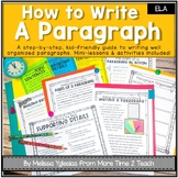 Paragraph Writing: Step-By-Step Lessons, Interactive Notebook Activities, & More
