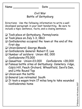 Civil War Notes to Paragraphs