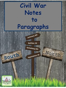 Writing Paragraphs from Notes with Civil War Information