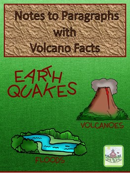 Writing Paragraphs from Volcano Notes