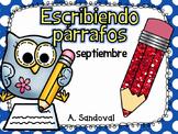 Writing Paragraphs in Spanish-September
