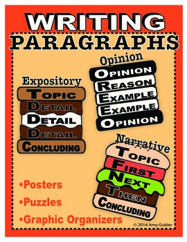 Writing Paragraphs  (opinion, expository, and narrative)