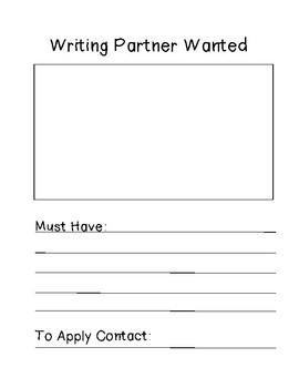 Writing Partner Want Ad