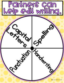 Writing Partner Wheel - Editable!