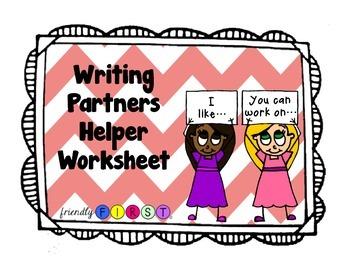 Writing Partners Worksheet