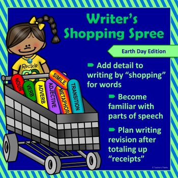 """Earth Day Writing & Parts of Speech Activity: """"Writer's Sh"""