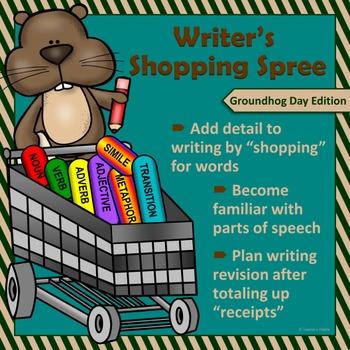 "Groundhog Day Writing & Parts of Speech Activity: ""Writer'"
