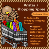 """Thanksgiving Writing & Parts of Speech Activity: """"Writer's"""