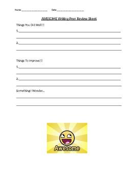 Writing Peer Review Sheet
