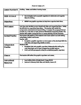 Personal Essay Writing Unit Lesson Plans Bundle Writer's Workshop