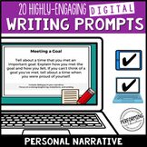Writing Personal Narrative Digital Writing Prompts for Gra