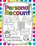 Writing Personal Recounts with Learning Goals, and Success Criteria