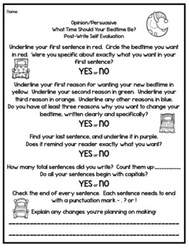Writing - Persuasive/Opinion - No Prep Guided Practice - Pre and Post Write