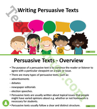 Writing Persuasive Texts Unit Plan – Year 5 and Year 6