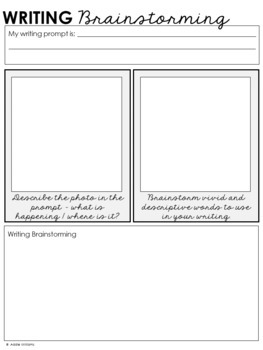 Writing - Photo Prompt Task Cards