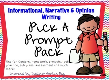 Writing Pick-a-Prompt Pack Bundle