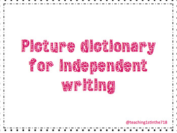 Writing Picture Dictionary