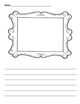 Writing Picture Frame Template