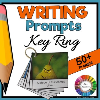 Picture Writing Prompts Key Ring (50+ Engaging Pictures and Sentences)