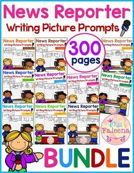 Writing Picture Prompts - News Reporter THE BUNDLE